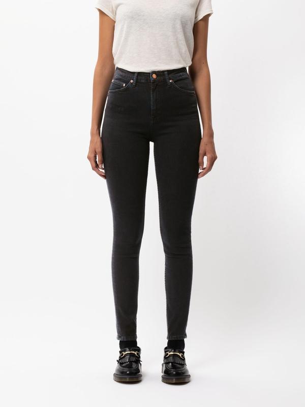 Nudie Jeans Hightop Tilde Sentimental Black Jeans W30/L30