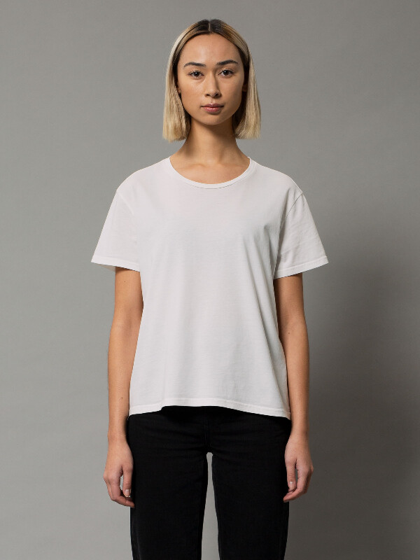 Nudie Jeans Lisa Tee Offwhite T-shirts Small