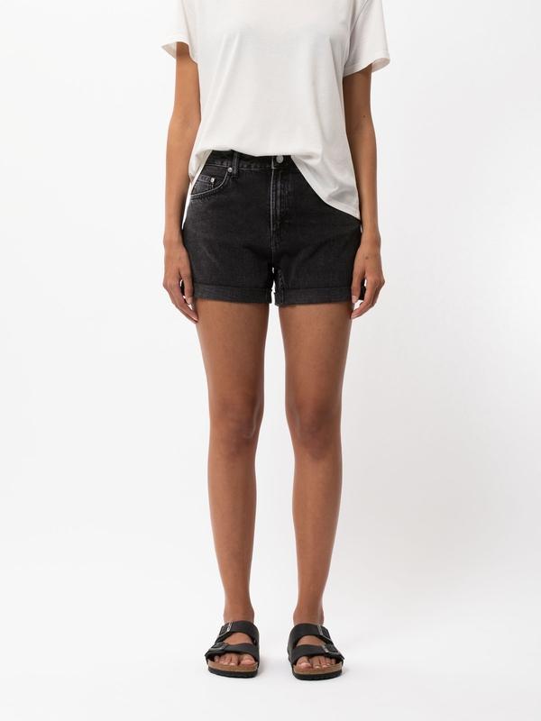 Nudie Jeans Frida Shorts Black Trace Denim Shorts W27