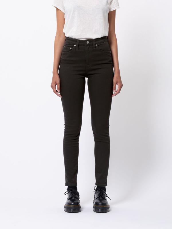 Nudie Jeans Hightop Tilde Everblack Jeans W24/L28