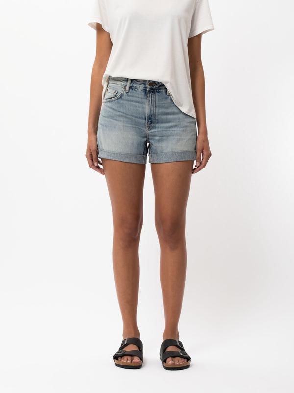 Nudie Jeans Frida Shorts Faded Sun Denim Shorts W25
