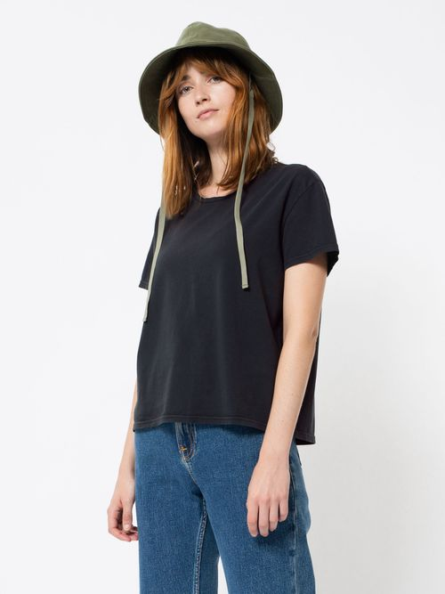 Nudie Jeans Lisa Tee Antracite T-shirts Small