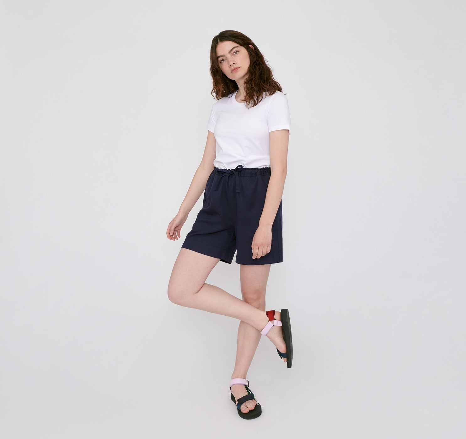 TENCEL™ Woven Draw-Cord Shorts