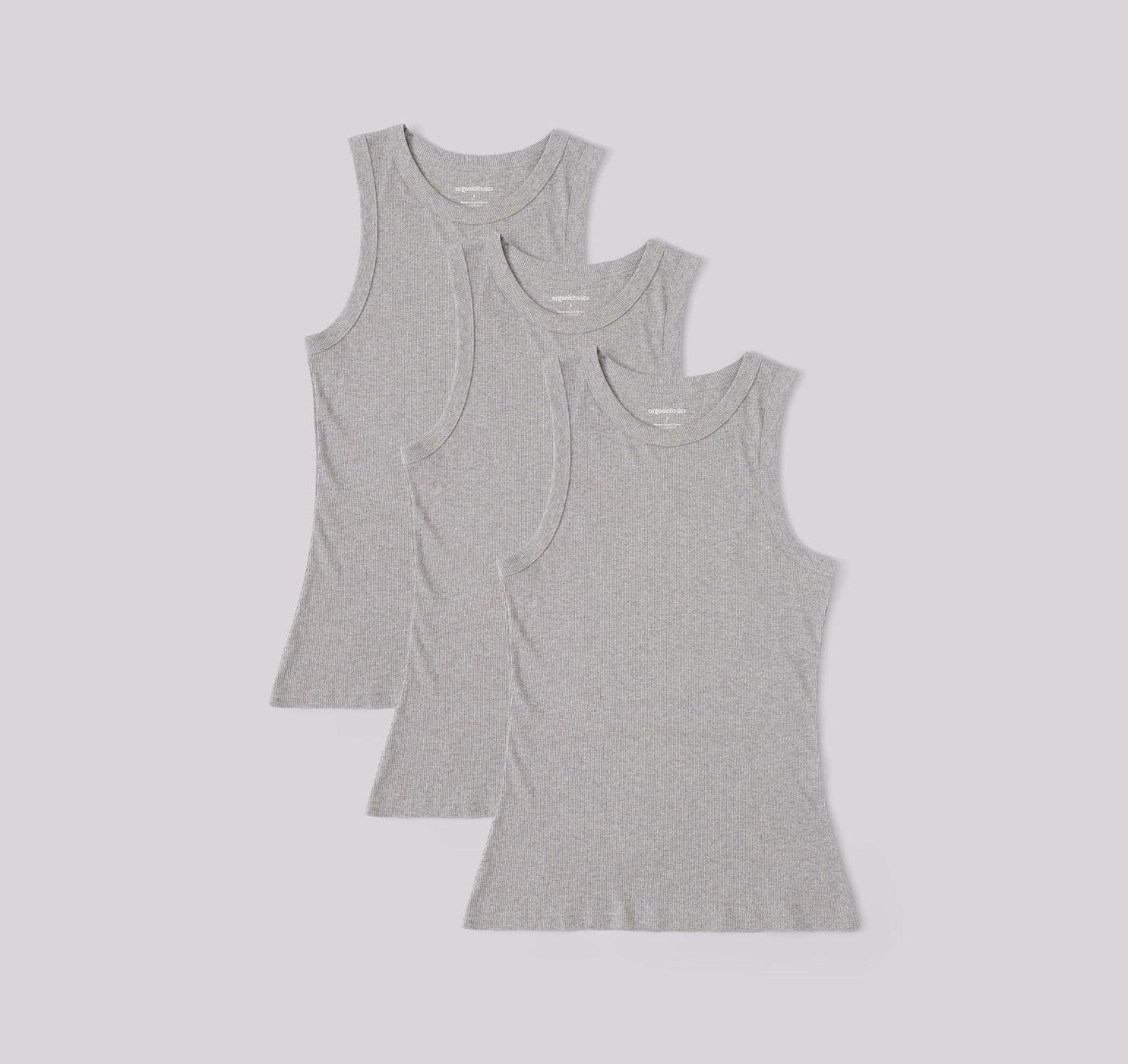 Organic Cotton Rib-Flex Tank Top 3-pack