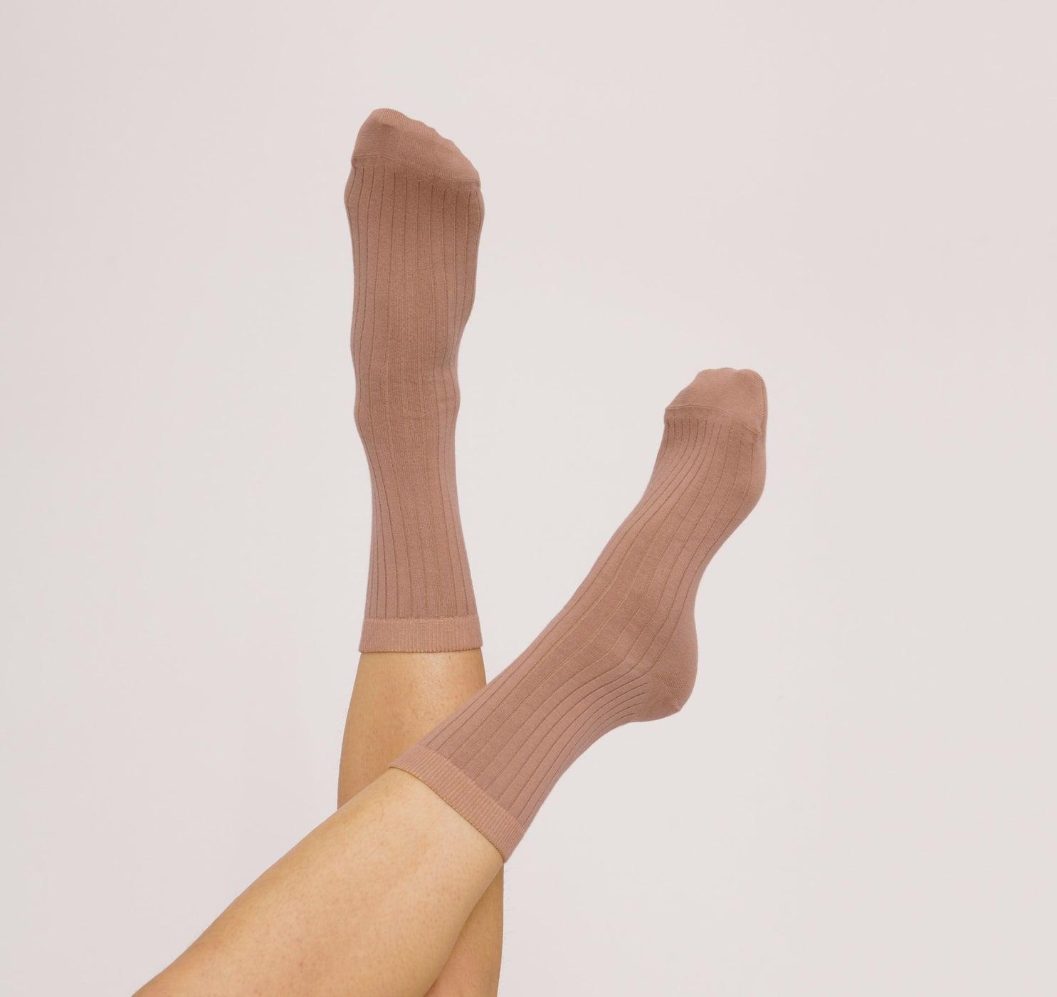 Organic Cotton Rib Socks 2-pack