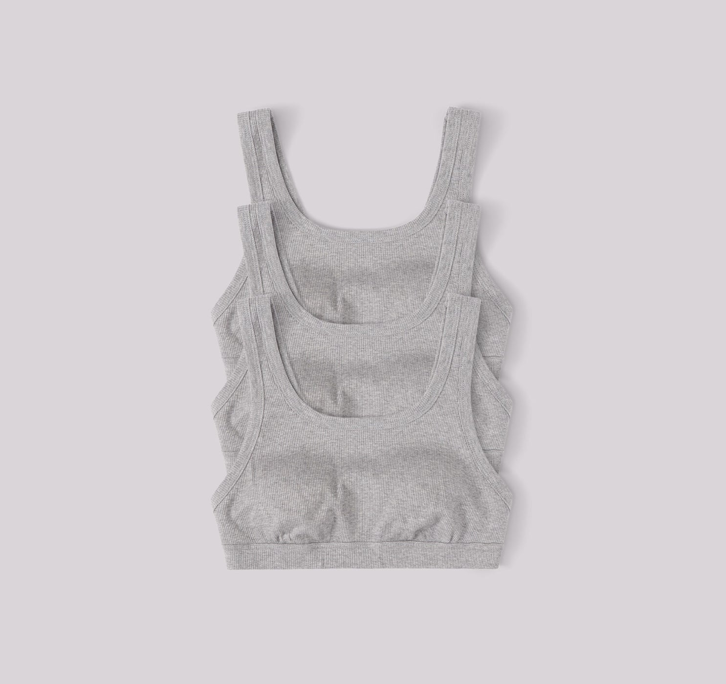 Organic Cotton Rib-Flex Tank Bra 3-pack
