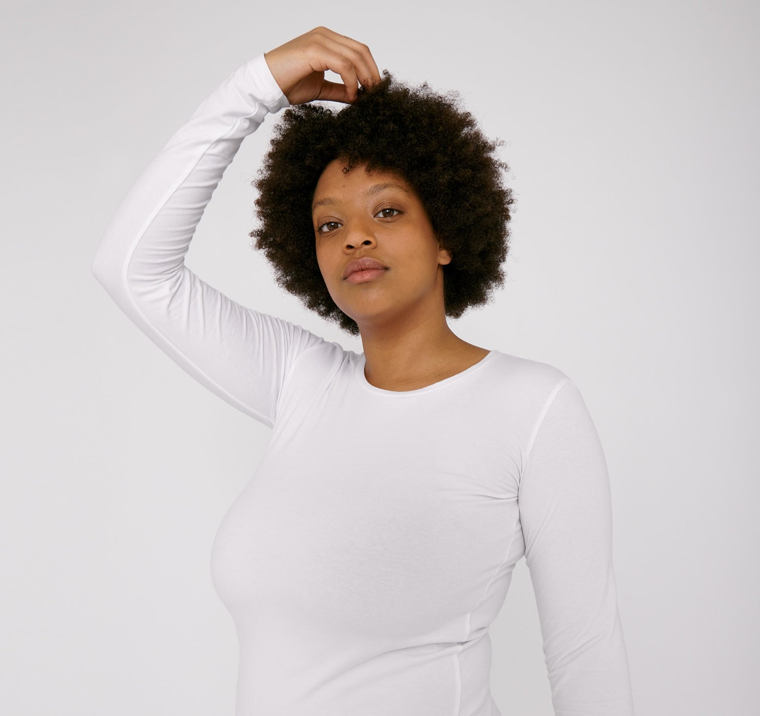 Organic Cotton Long-Sleeve Stretch Tee