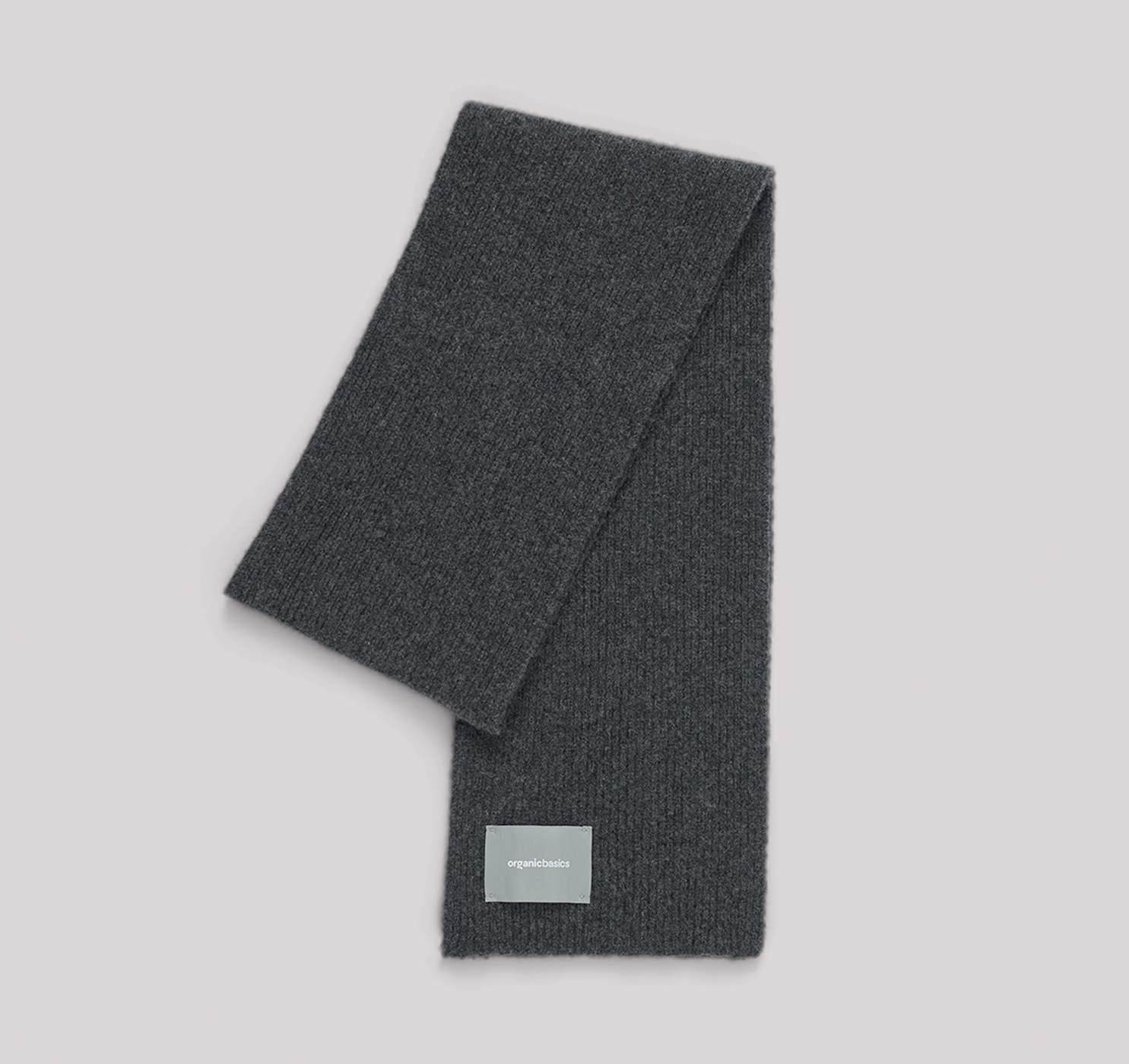Recycled Wool Rib Scarf