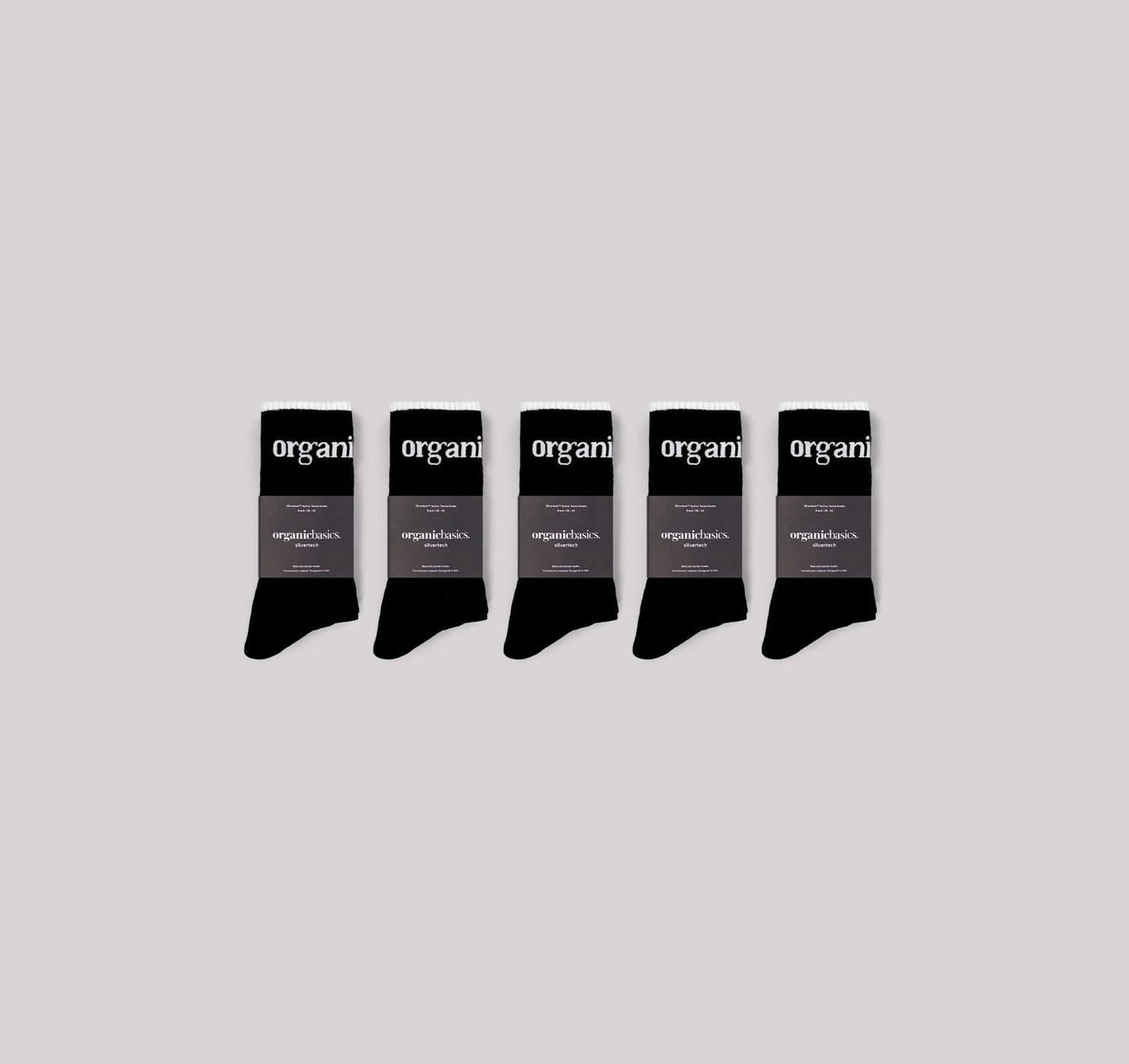 SilverTech™ Active Tennis Socks 5-pack