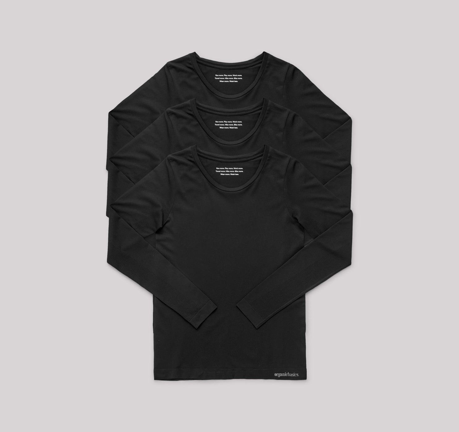 SilverTech™ Active Long-Sleeve Tee 3-pack