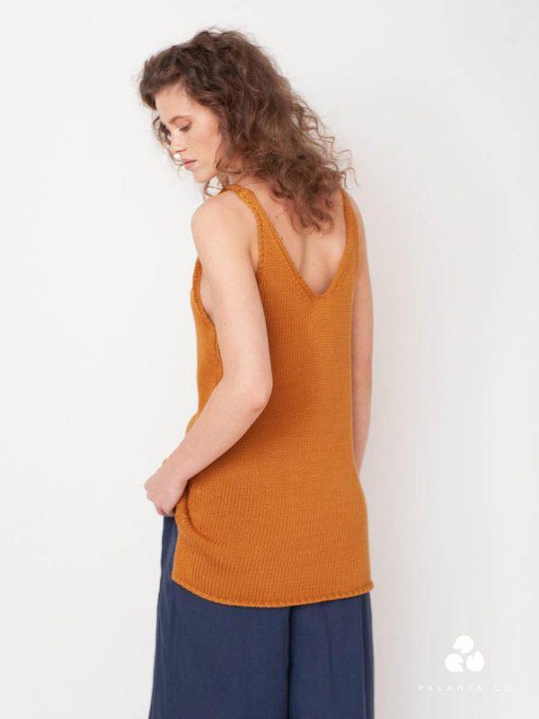 STELLA knitted vest in Sun