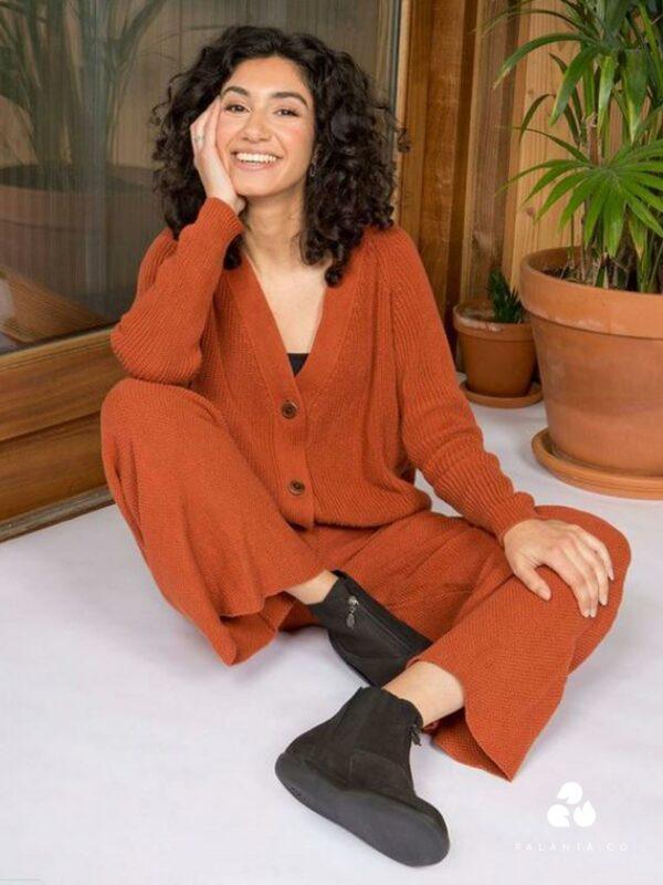 ANNA organic cotton sweater, cardigan