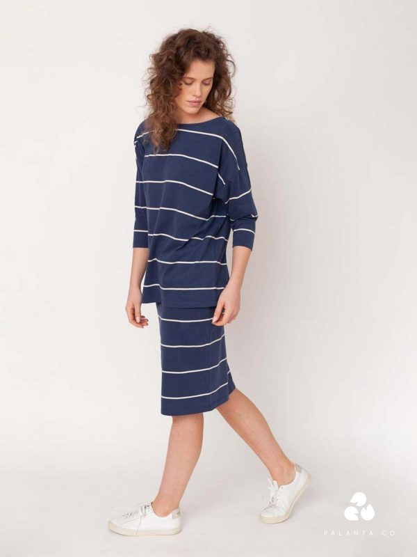 ADDISON-SUE organic cotton skirt in blue