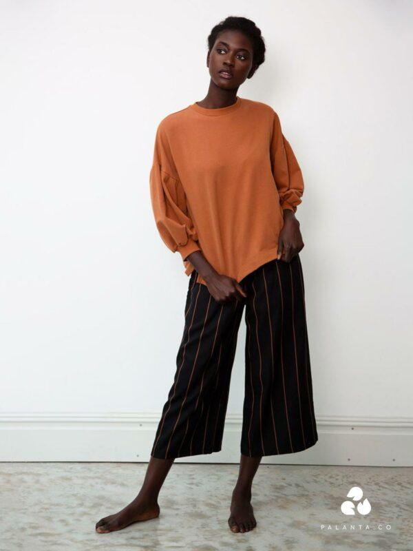 ADRIENNE-SUE tencel striped pants