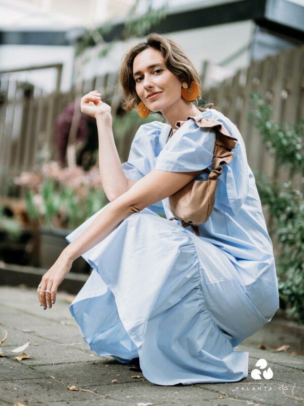 LESLEY cotton dress in light blue