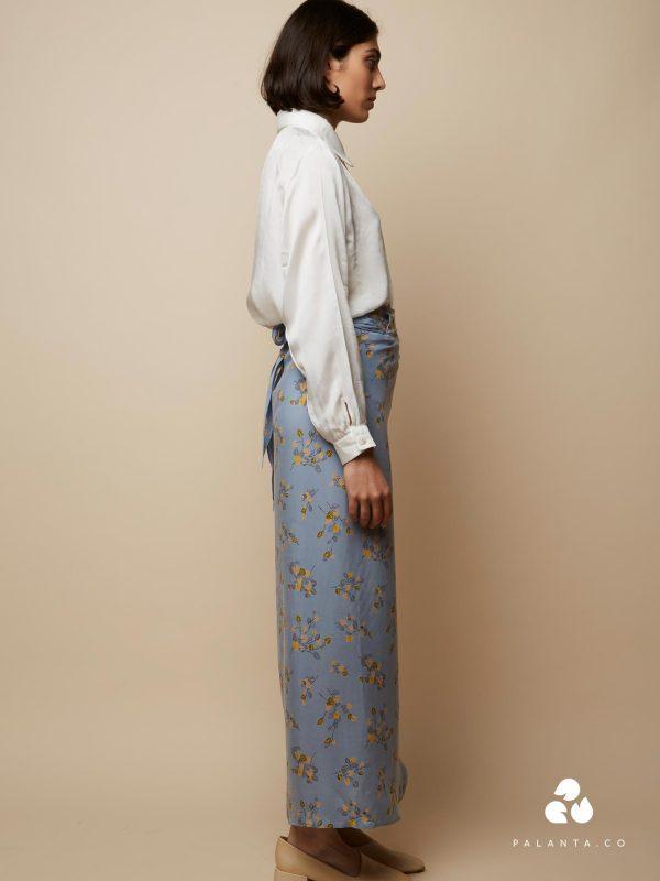 Rakha WRAP skirt with Flower Print