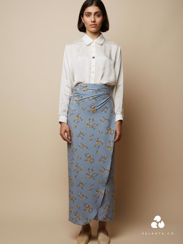 WRAP skirt with Flower Print