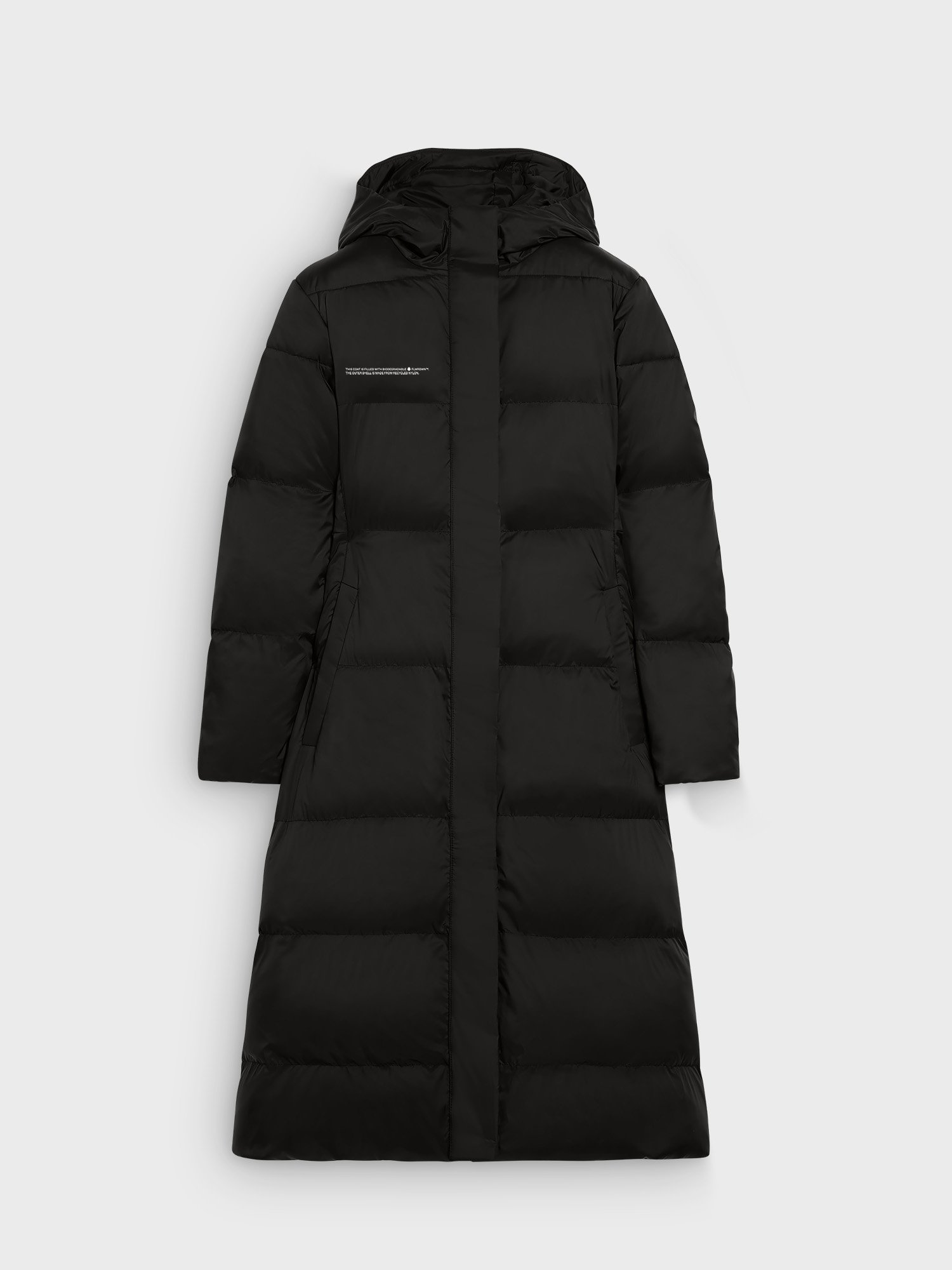 FLWRDWN™ fitted long puffer jacket