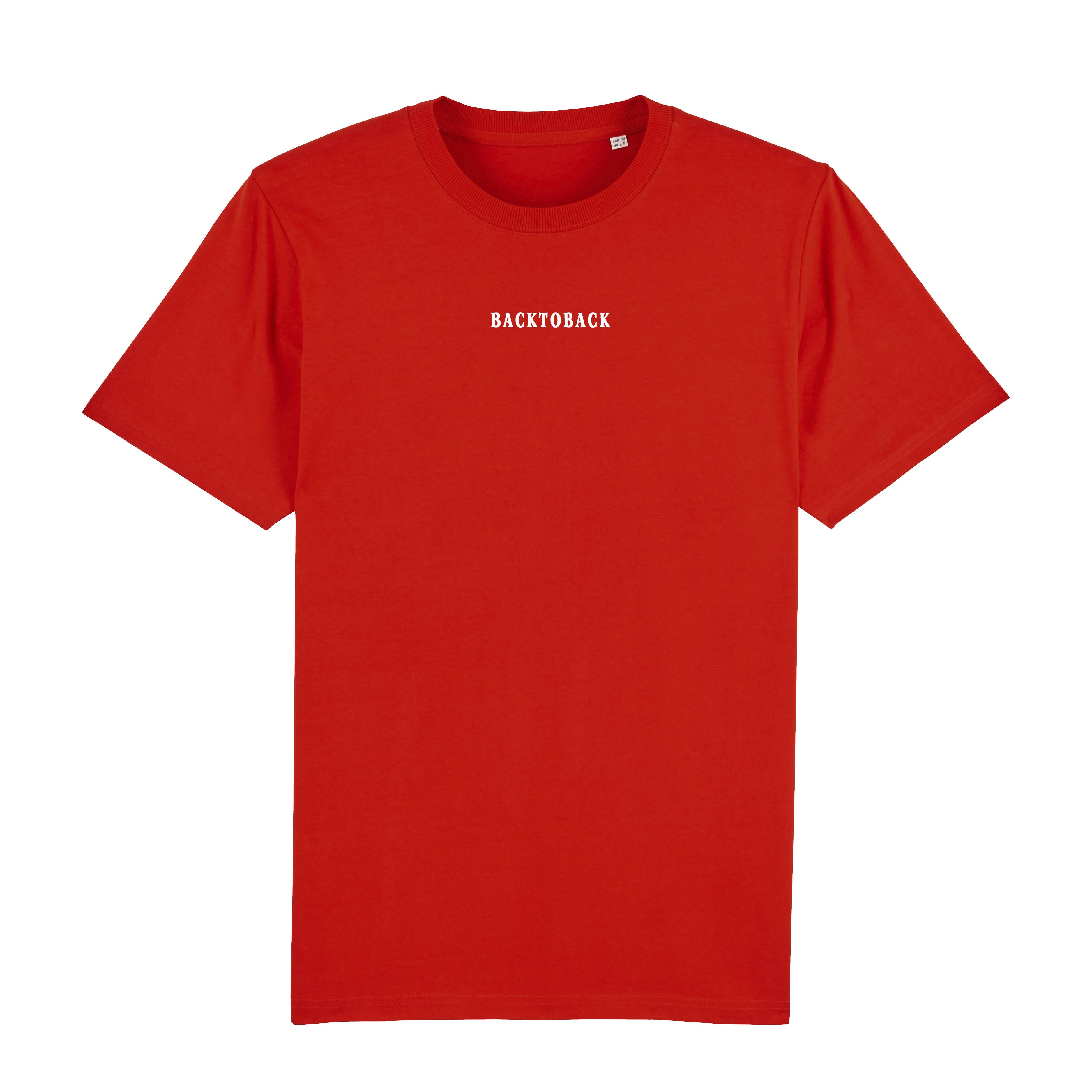 BACKTOBACK Red Organic Mind Your Step T-shirt