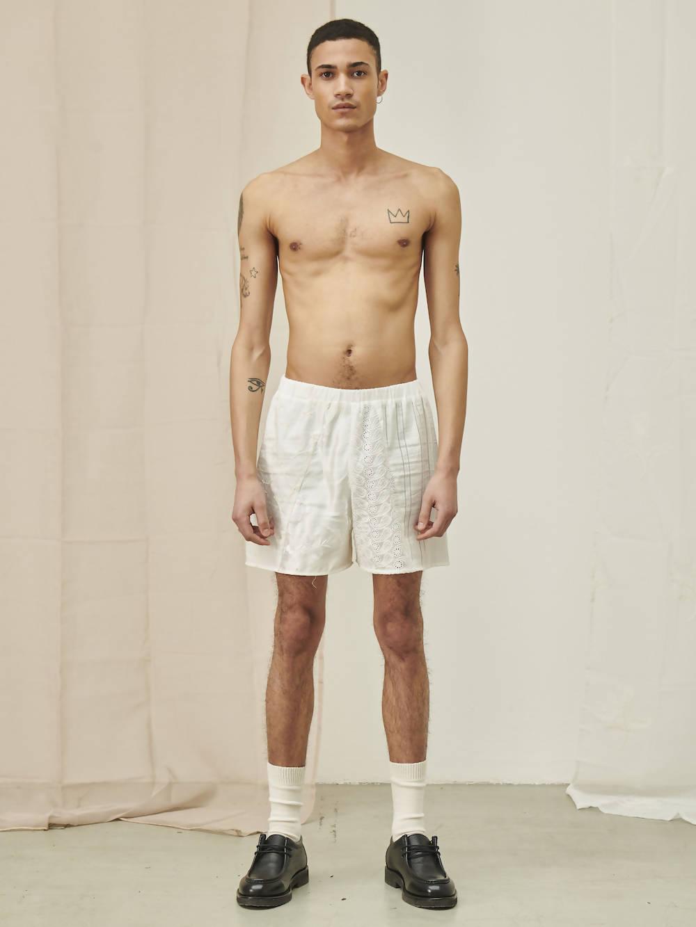 Cavia Lace Patchwork Shorts SANTO
