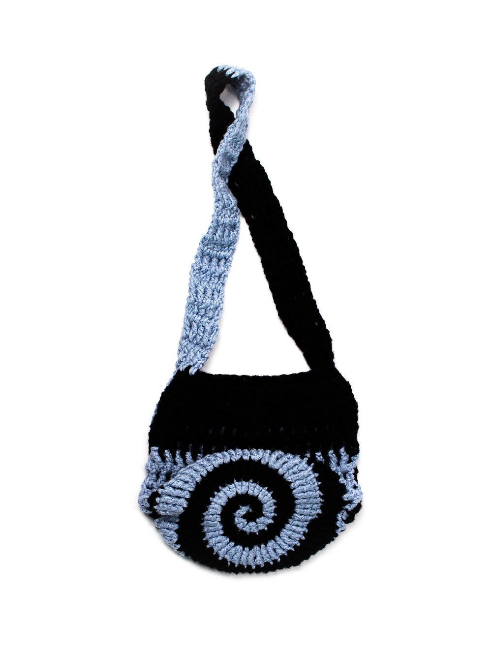 PAR CIELLE Black Breeze Swirly Bag