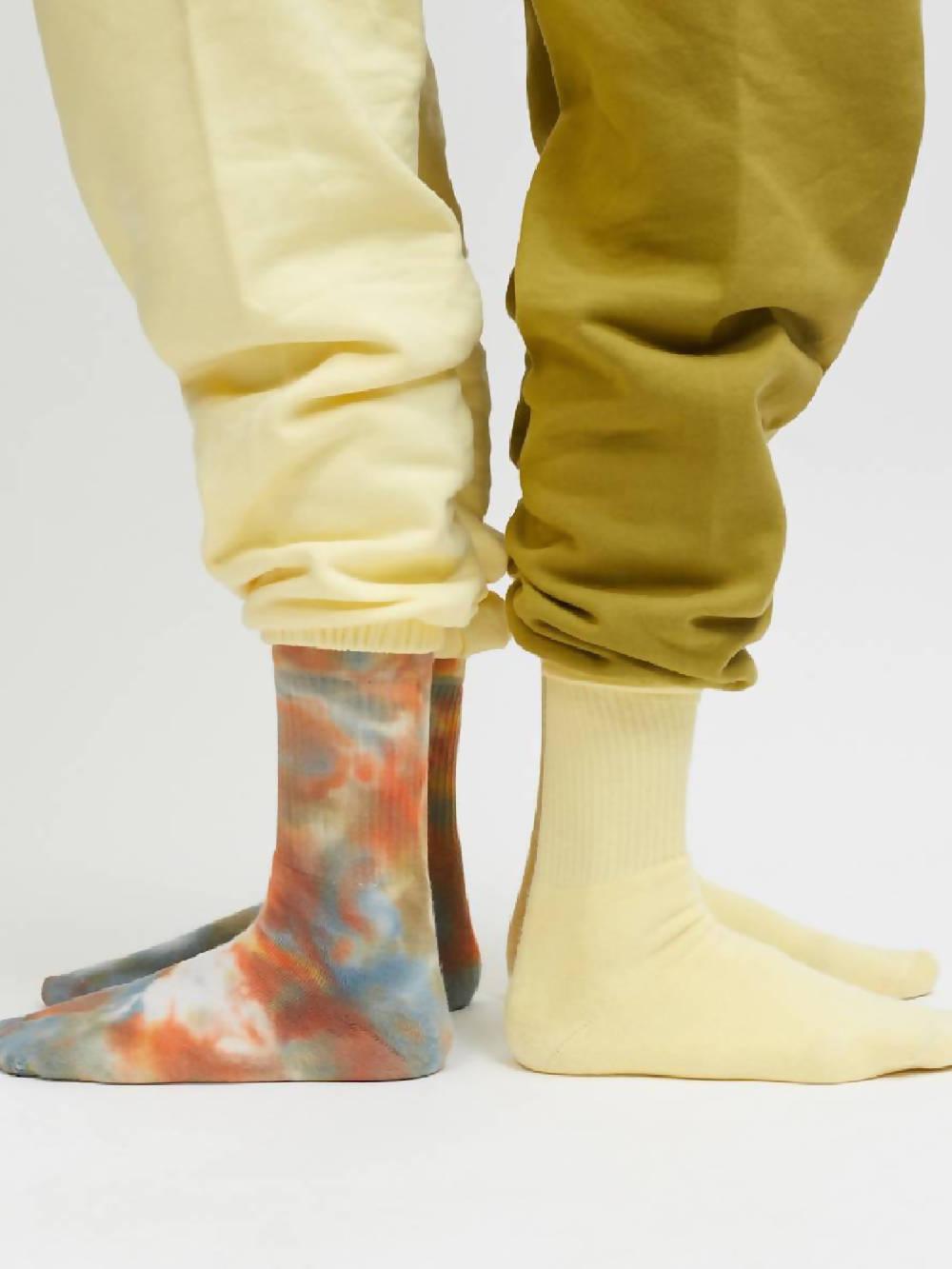 Lola Studio Yellow Socks Pale Banana