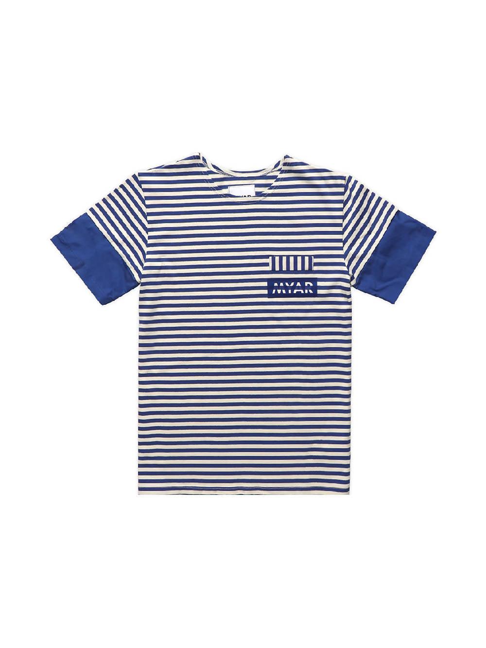 MYAR Blue and White RUT0Z Striped T-Shirt
