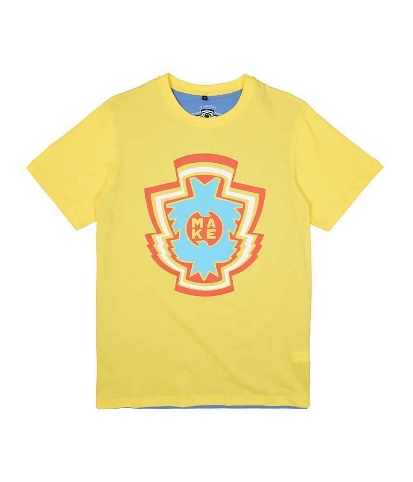 MAKE Yellow Blue INSIGNIA T-Shirt