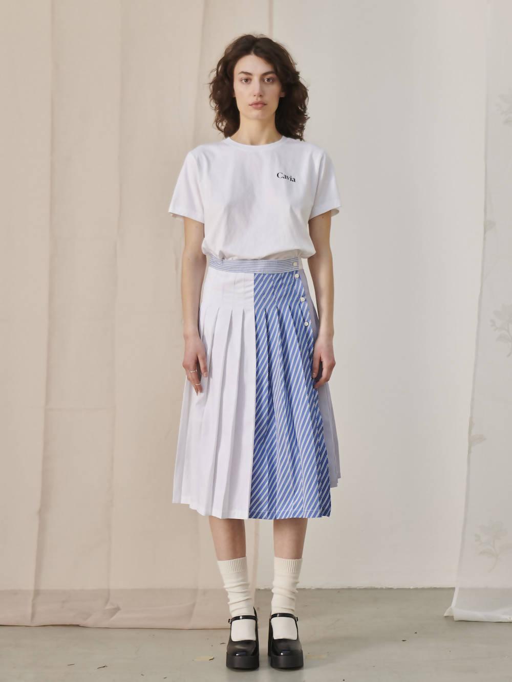 Cavia poplin asymmetric Skirt GALA