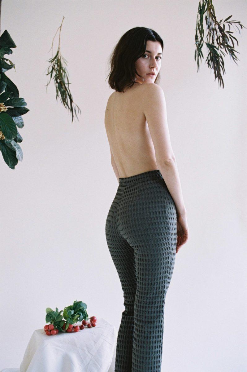 Aniela Parys Slate Organic Kalypso Waffle Trouser