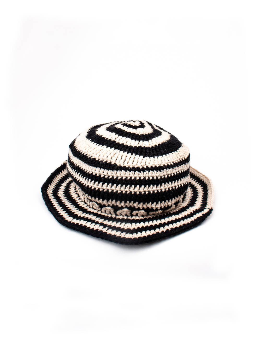 PAR CIELLE Black Pearl Swirly Sun Hat