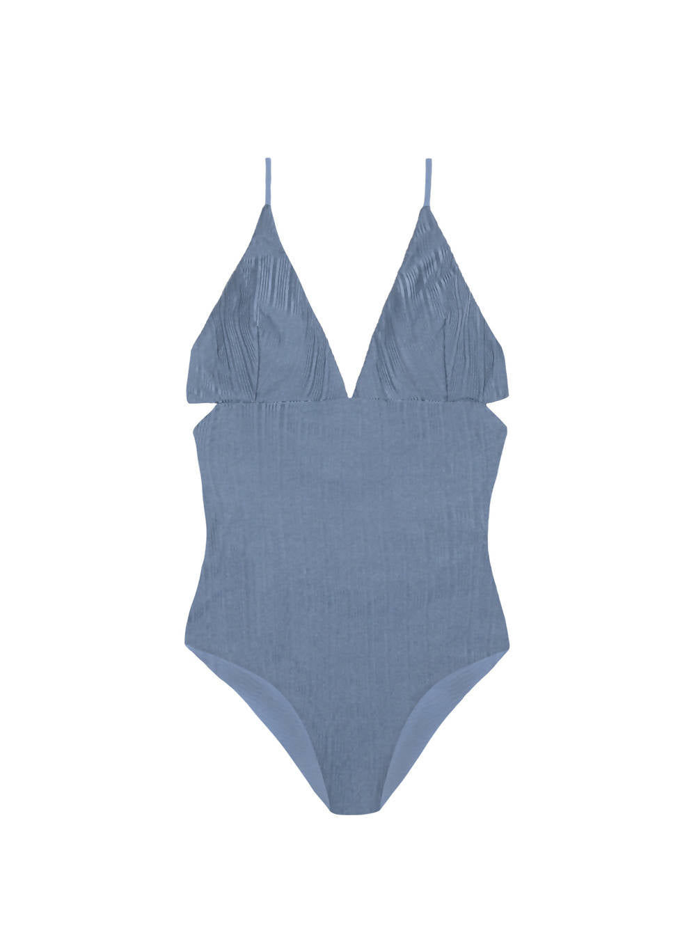 Clo Stories Sky Blue Ribbed Reversable Swimsuit Anne