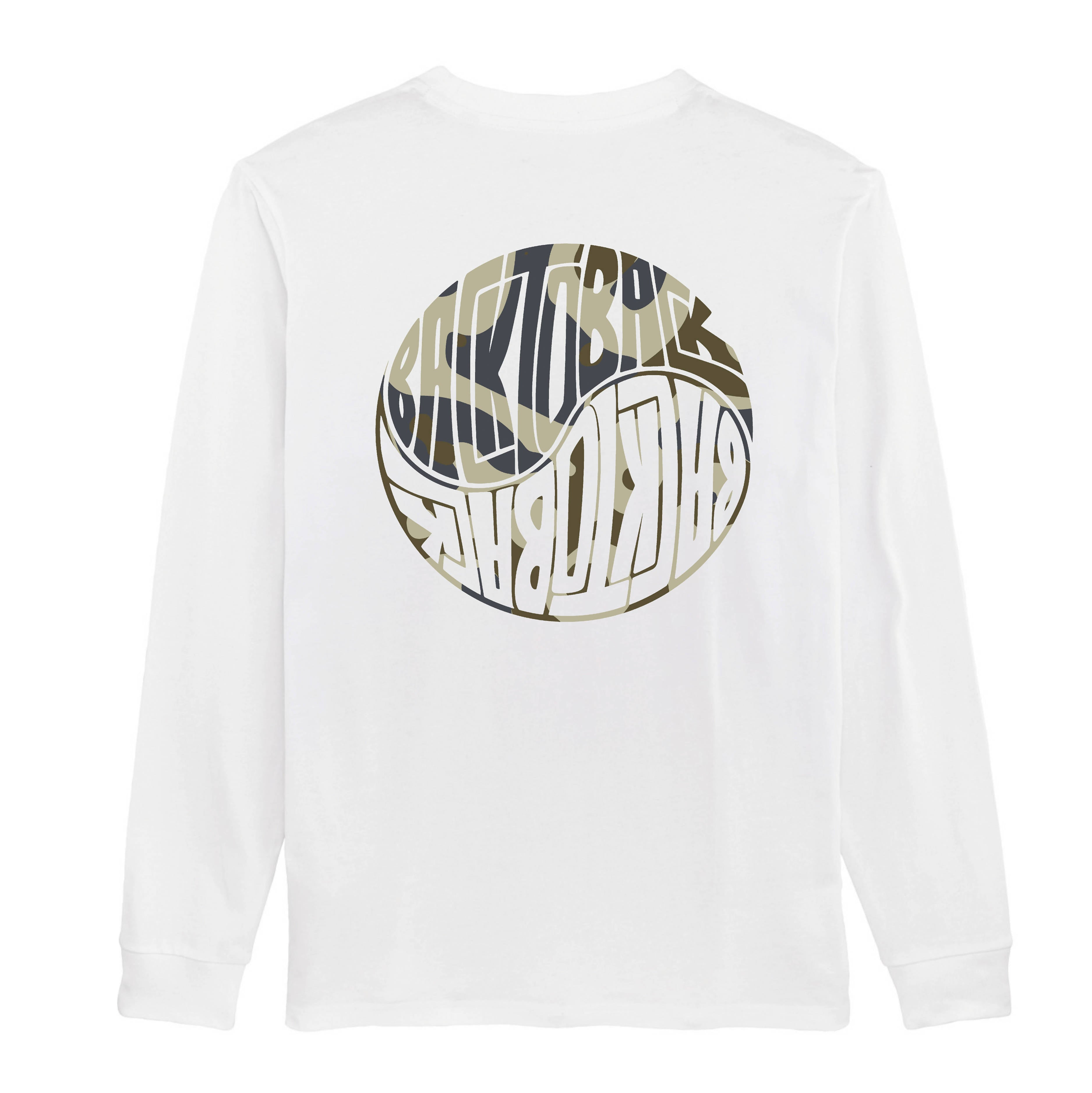 BACKTOBACK White Pattern Longsleeve T-shirt