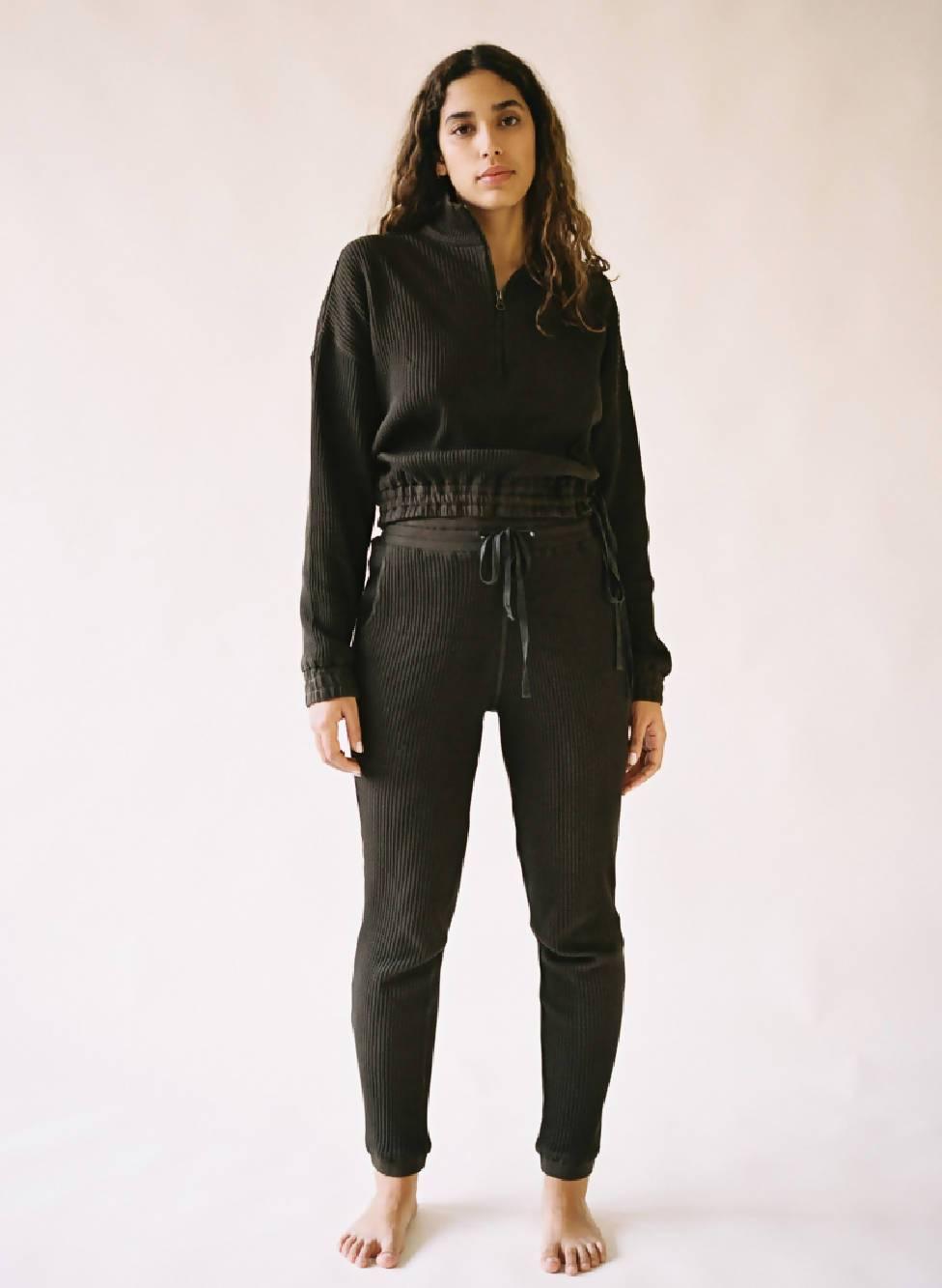 Aniela Parys Black Organic Helios Trousers