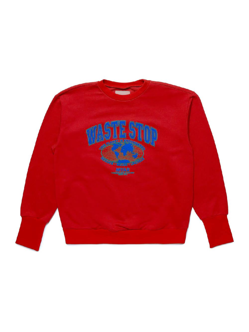 MYAR MYSW27 WASTESTOP RED Sweatshirt