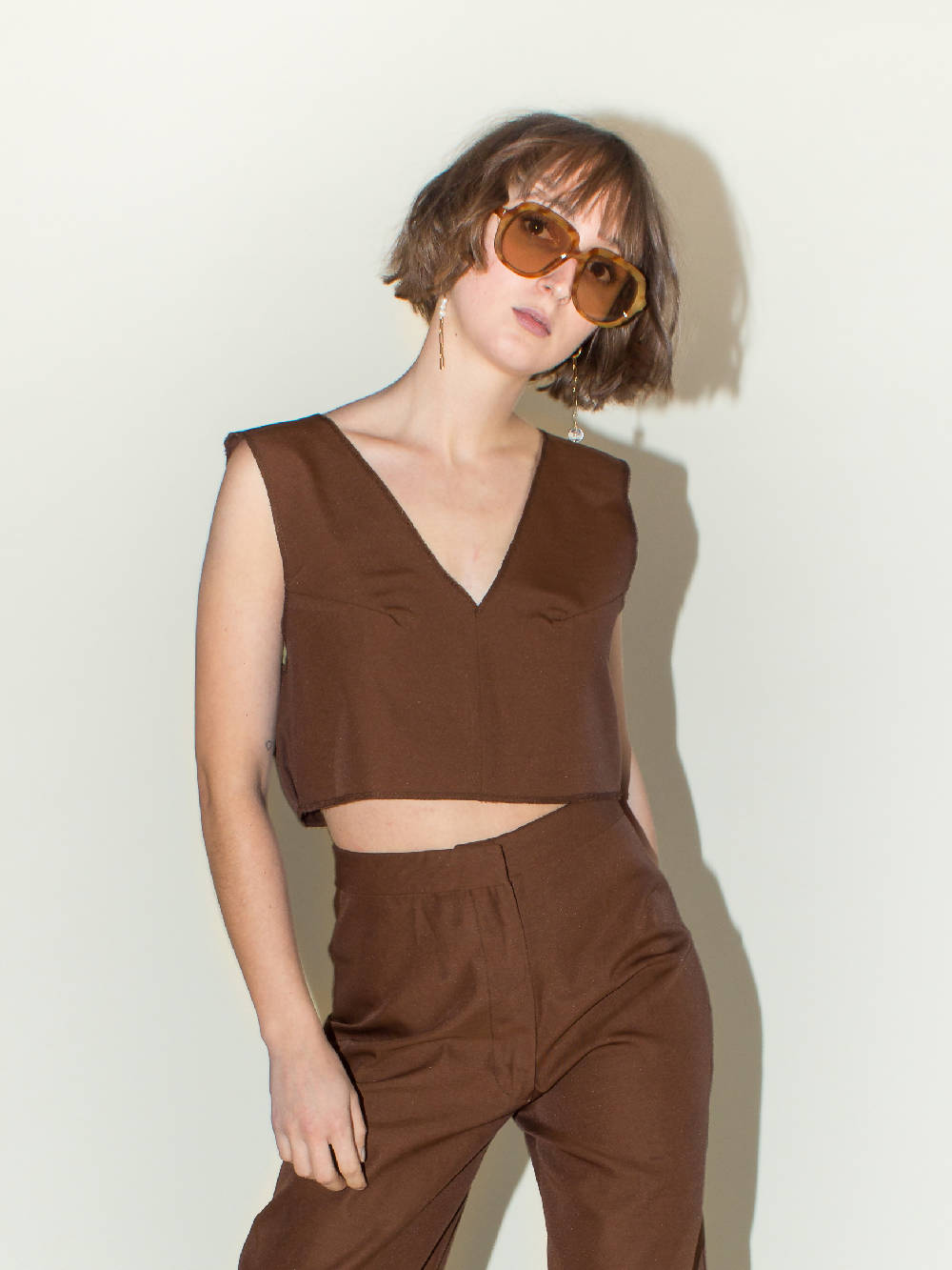 WE FOUND IT STUDIO CHOCO BROWN TOP L'Adorable