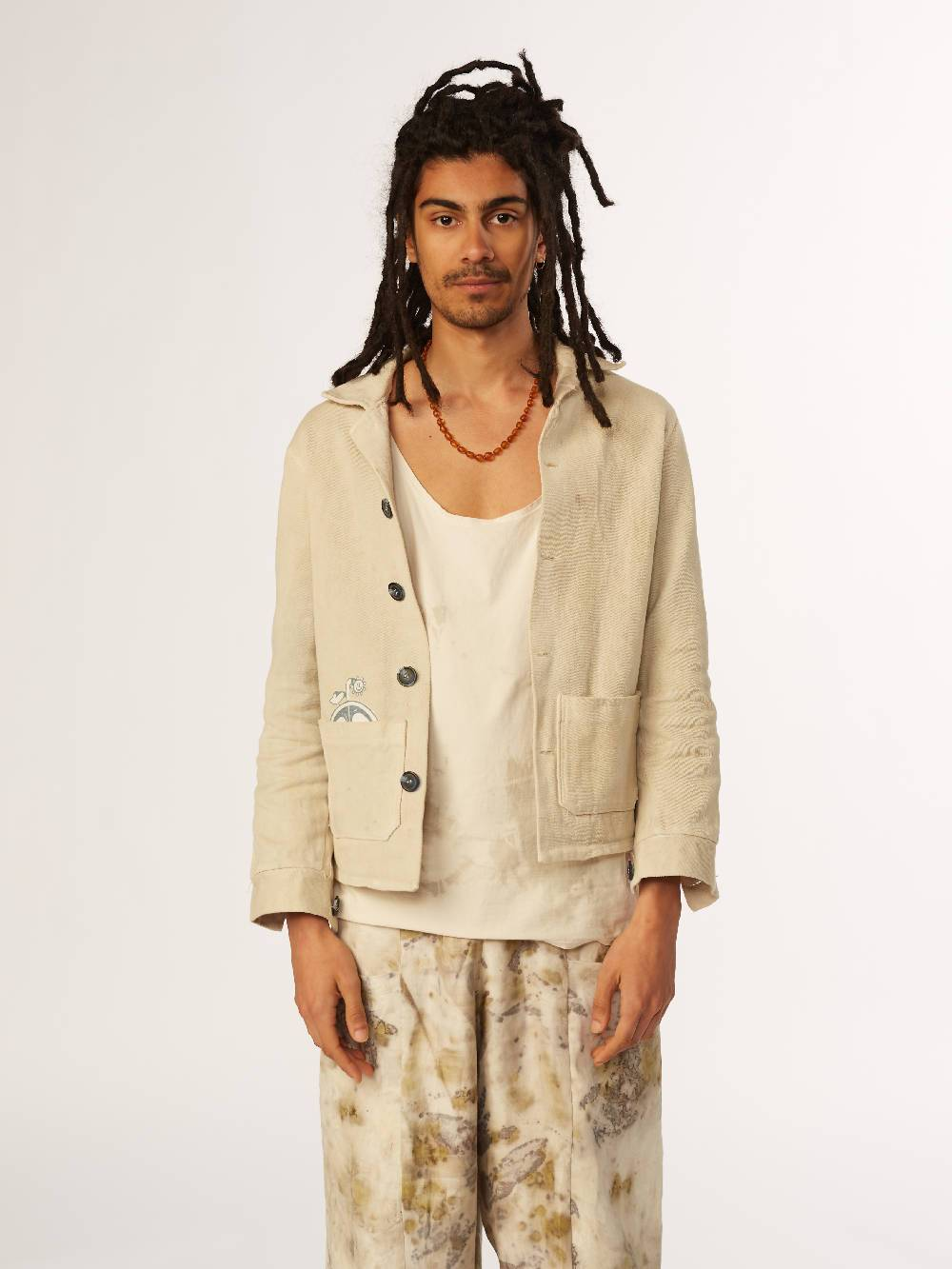 E A Williams Naturally dyed Hibiscus Unisex Jacket
