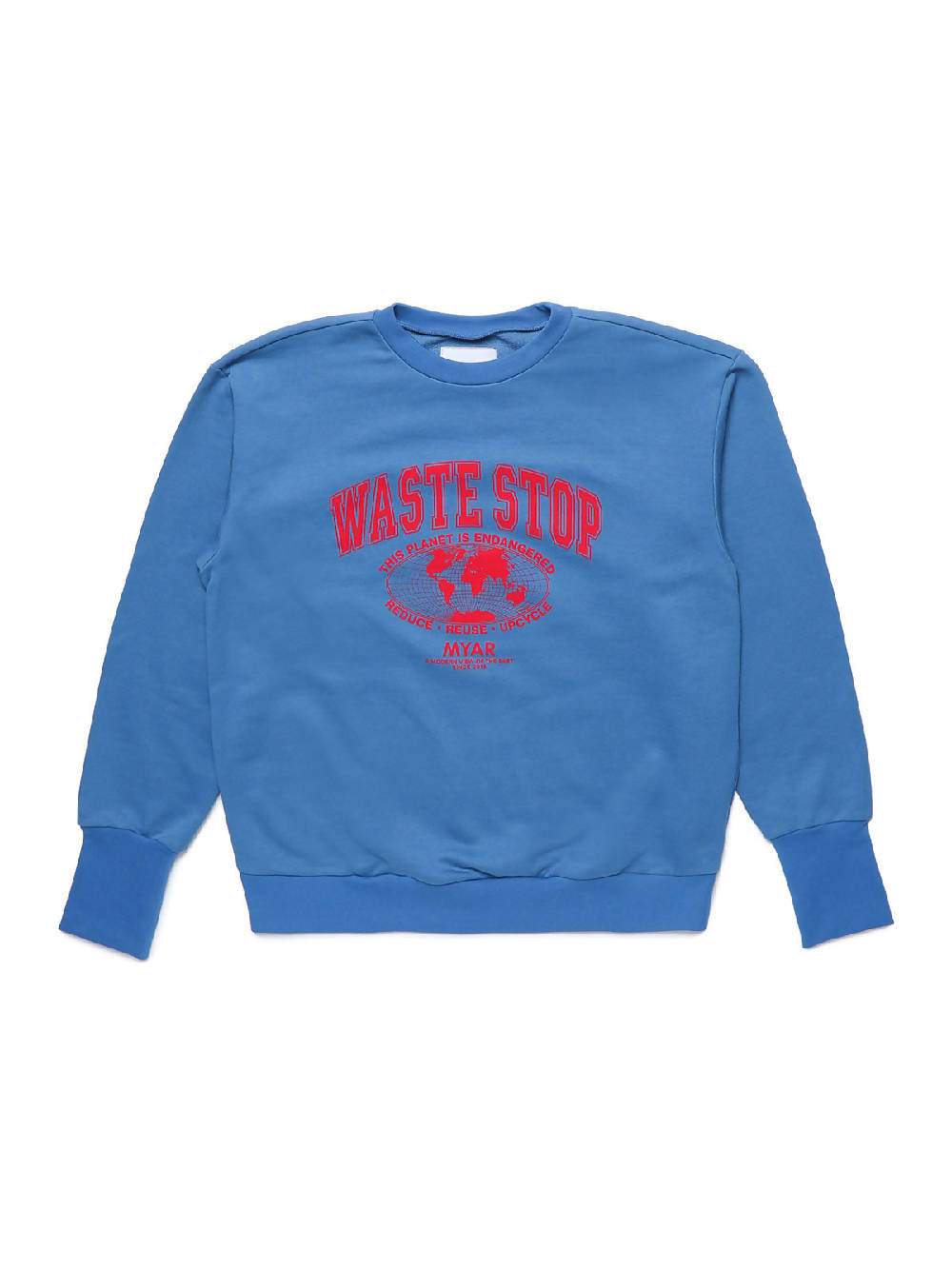 MYAR MYSW28 WASTESTOP BLUE Sweatshirt