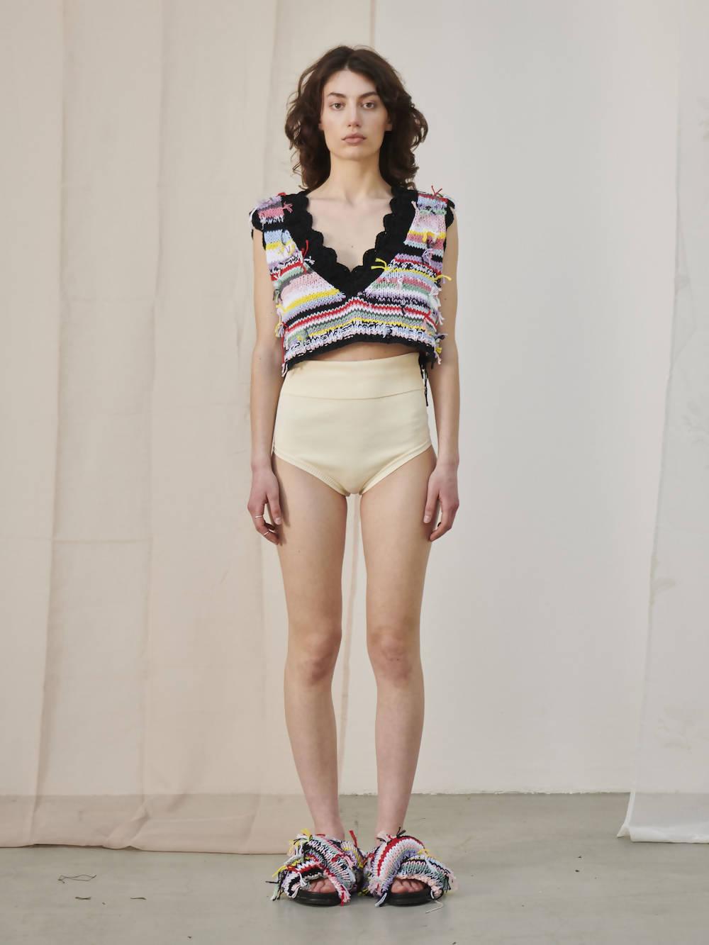 Cavia Multicolour knitted Cropped Vest UMA