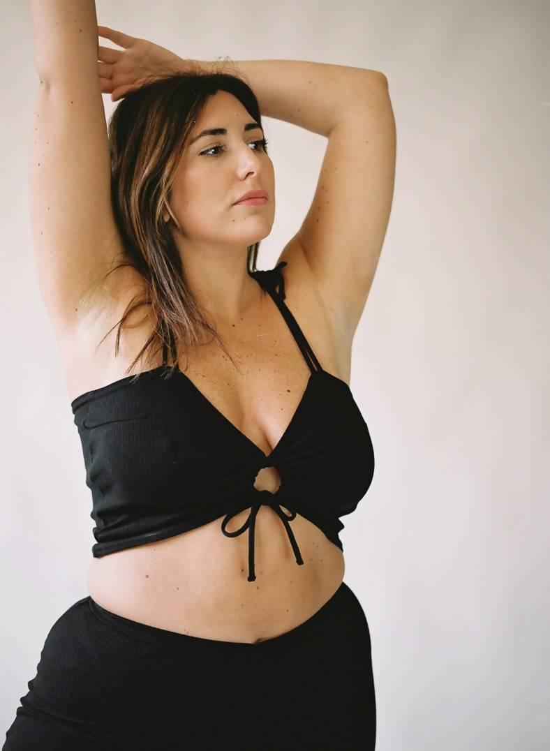 Aniela Parys Black Elise Top