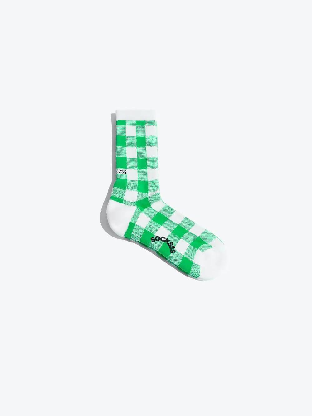 SOCKSSS Green Pebble Beach Organic Sock