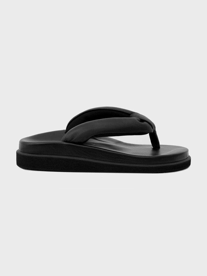 Sinobi ROUND BLACK Slippers