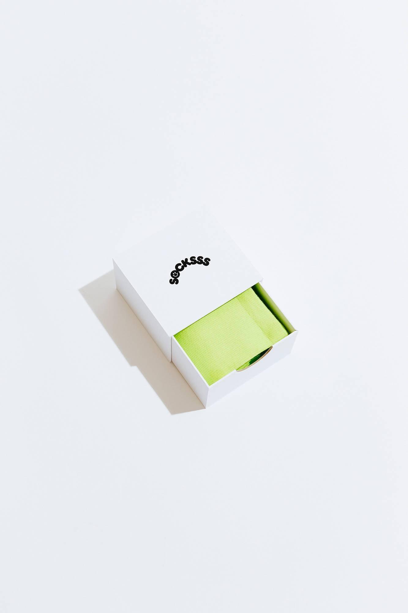 Socksss Green Sour Apple Organic Sock