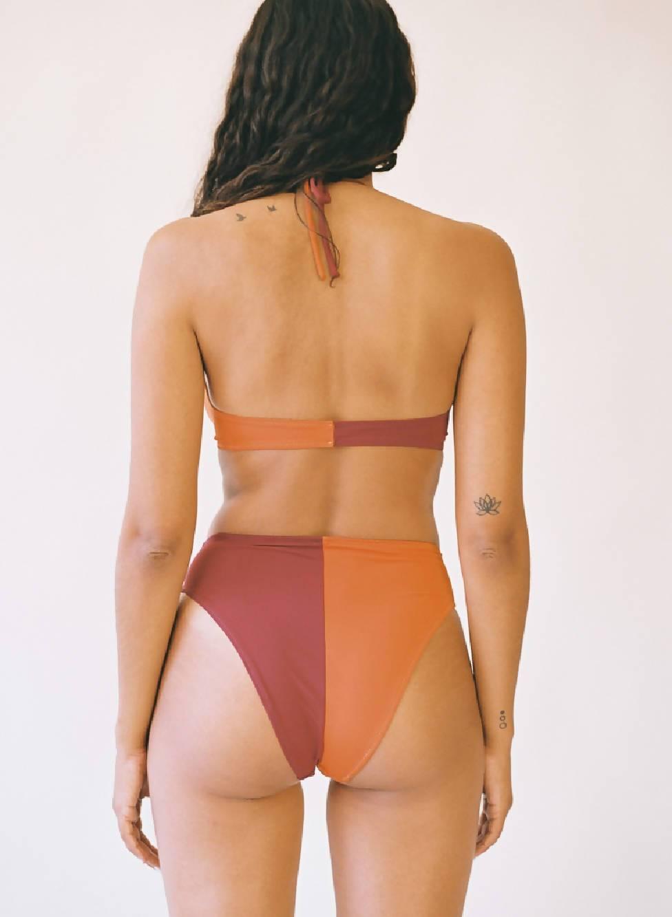 Aniela Parys Olympus Orange Two-Tone Bottom Swimwear