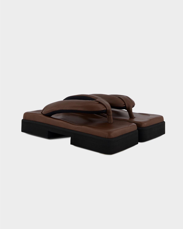 SINOBI GETA DOUBLE BROWN SANDAL