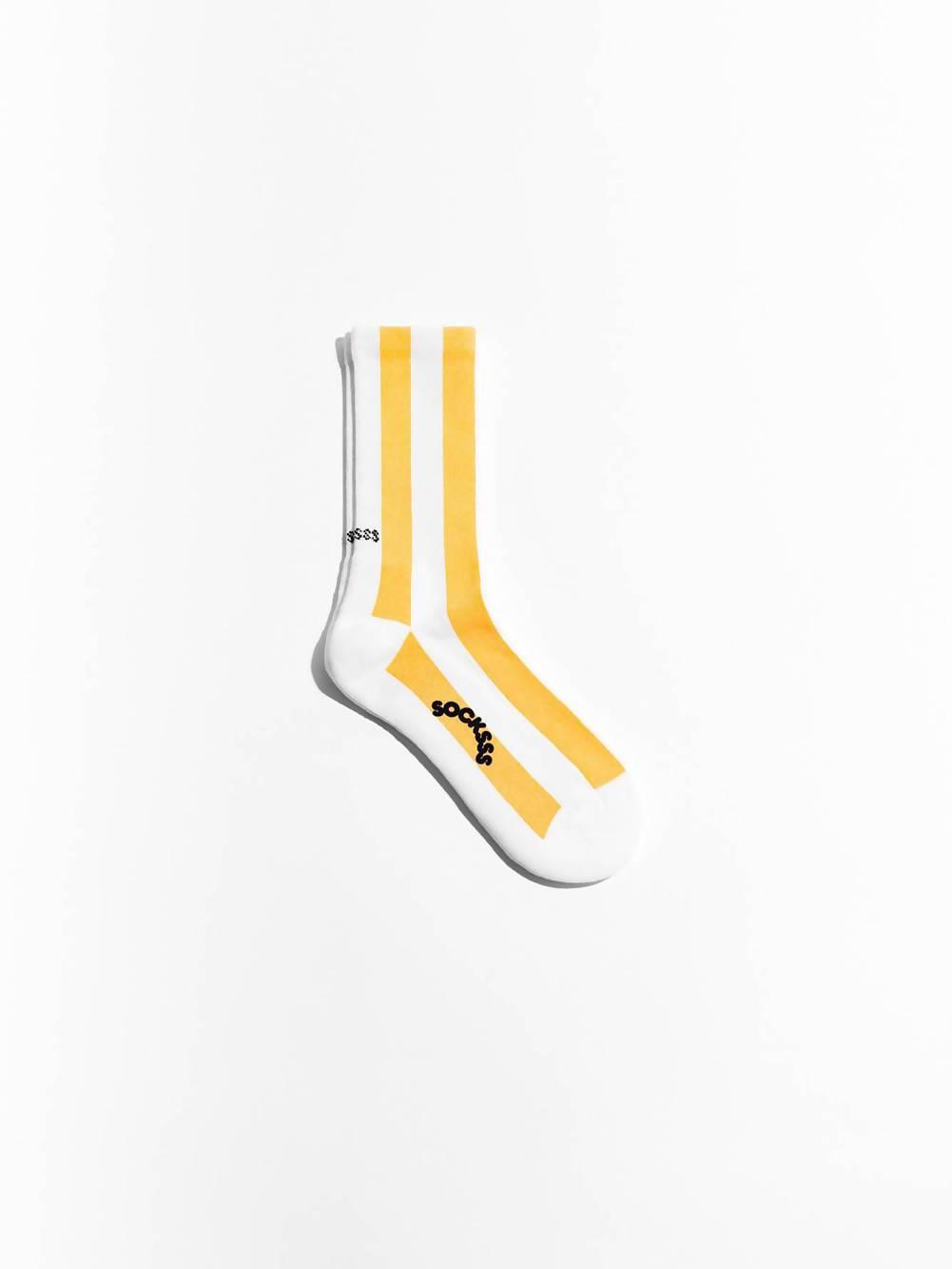 Socksss Yellow and White Sunbeam Organic sock