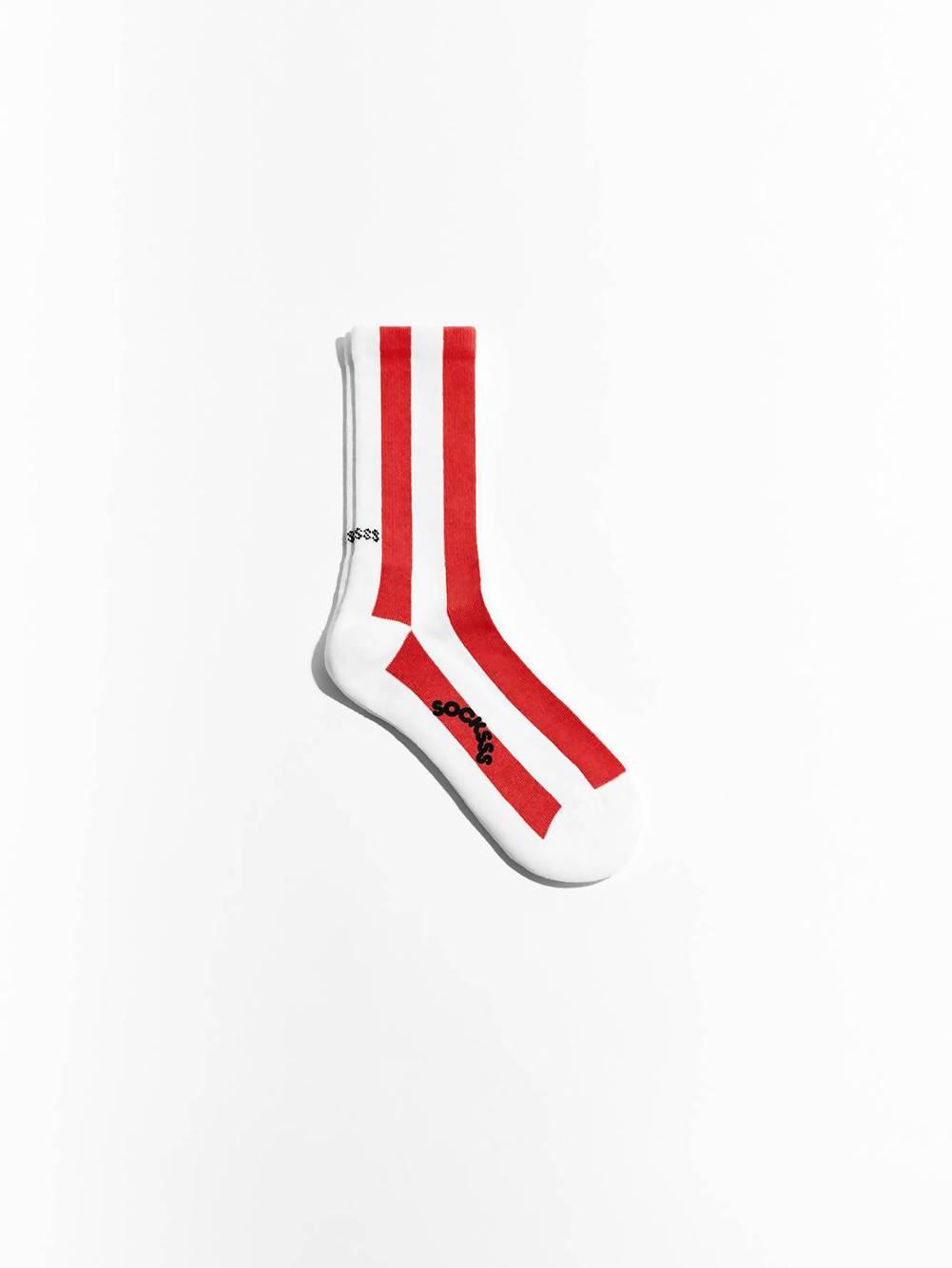 Socksss Red and White Polka Organic Sock