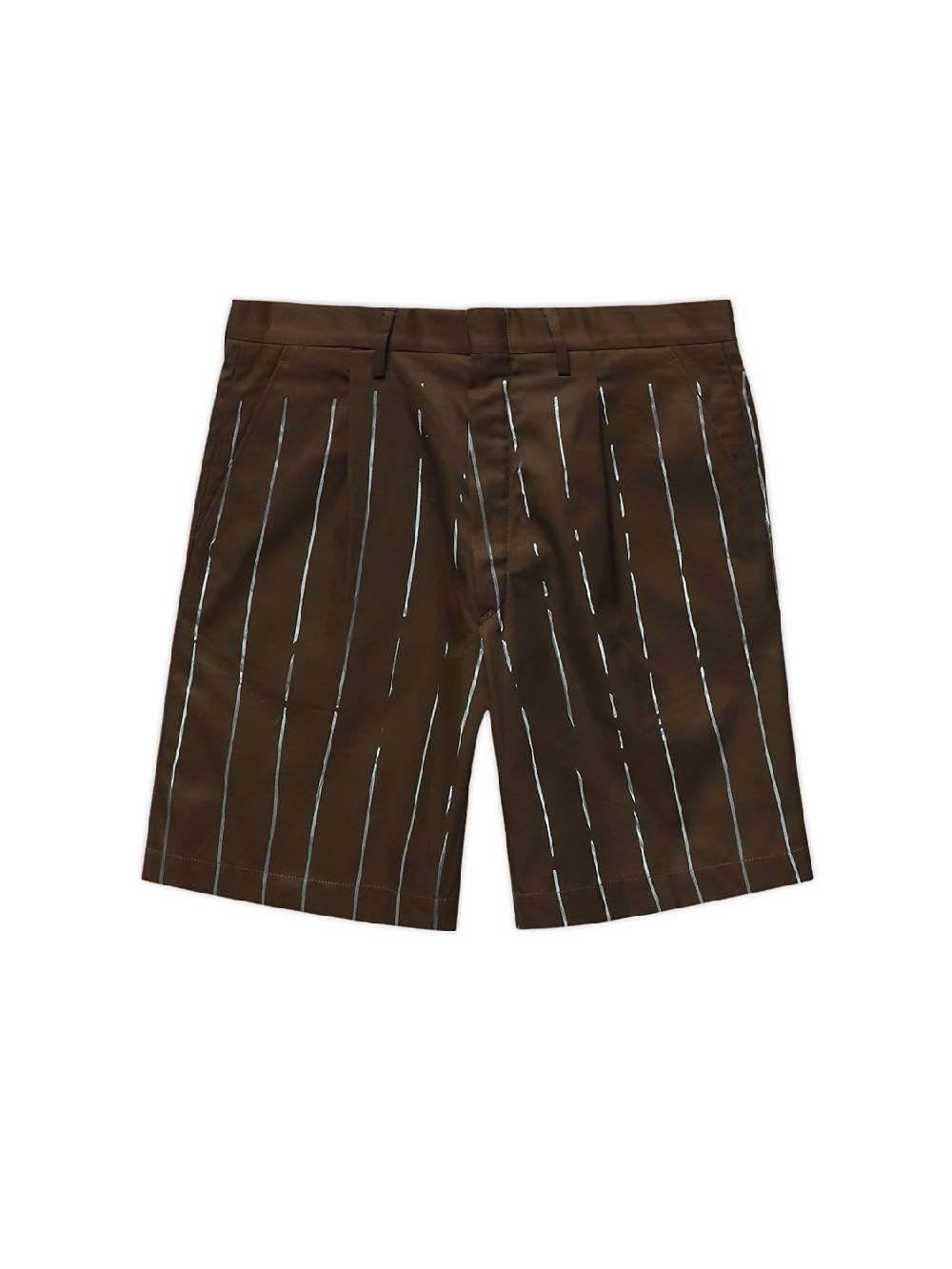 MYAR Khaki ITSRT90 Striped Shorts