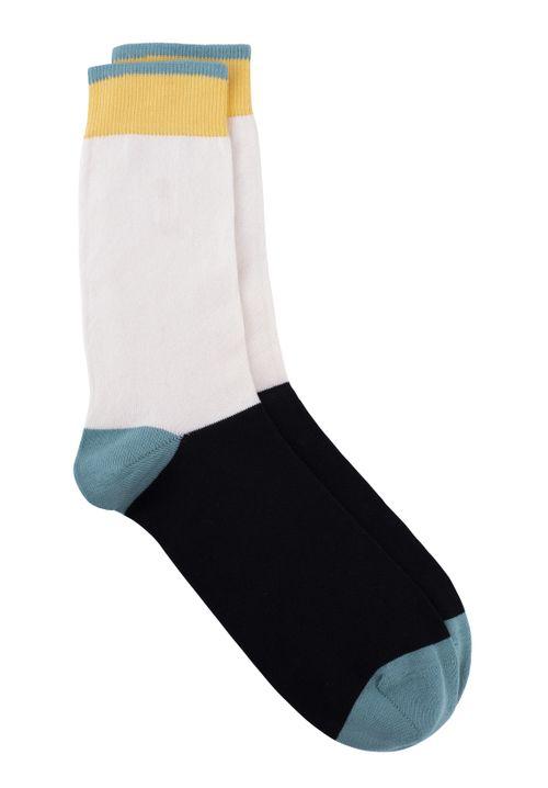 Colourblock Socks In Black & Green