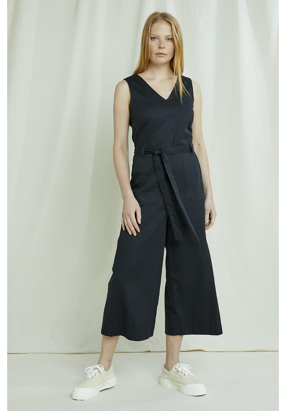 Vesta Jumpsuit In Black
